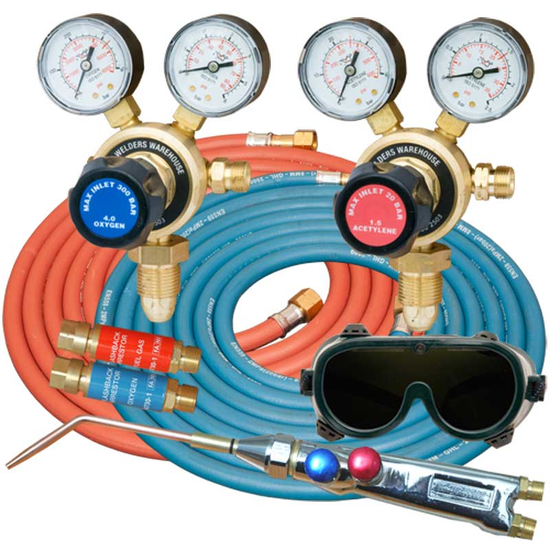 Gas Welding Kit - Oxygen + Acetylene LD Gas Welding Kit with Light ...