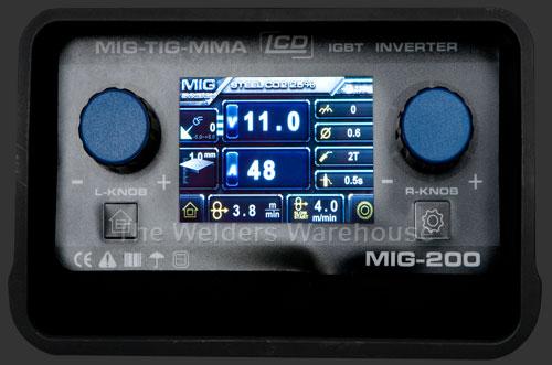 Synergic Mig Welder Control Panel